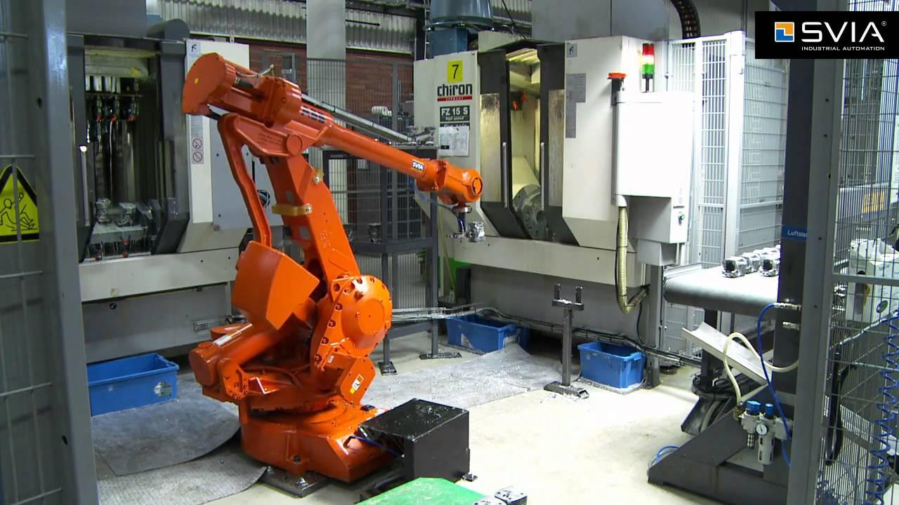 robot abb và may cnc chiron