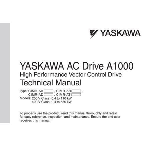 Yaskawa a1000 manual