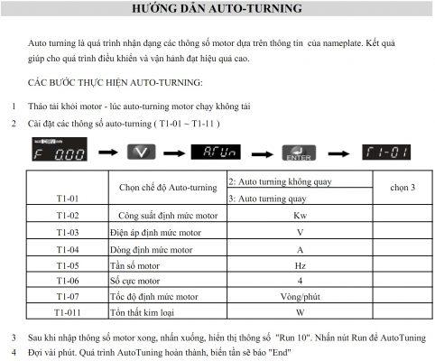 tài liệu biến tần yaskawa e1000 tiếng việt 6 - Hướng dẫn Auto turning biến tần Yaskawa E1000